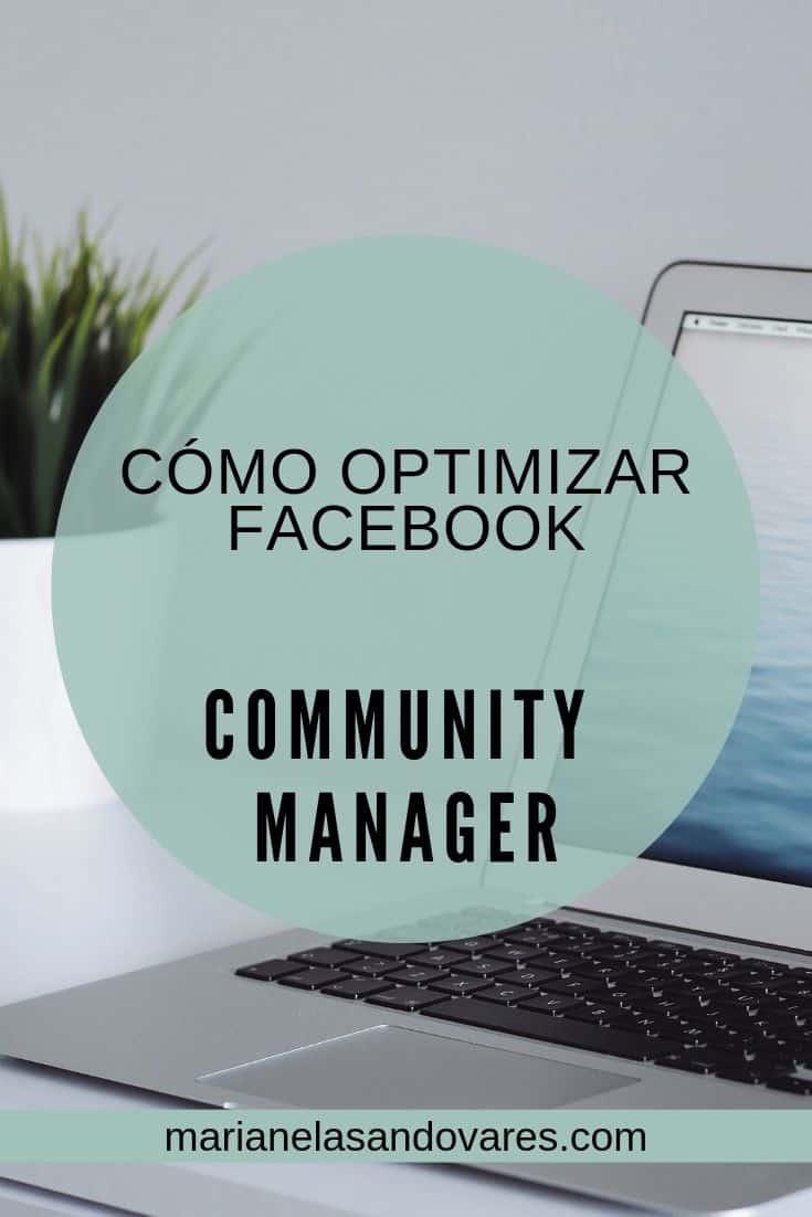 COMO OPTIMIZAR FACEBOOK community manager