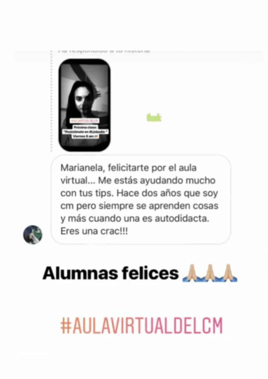 Opiniones formaciones Marianela Sandovares