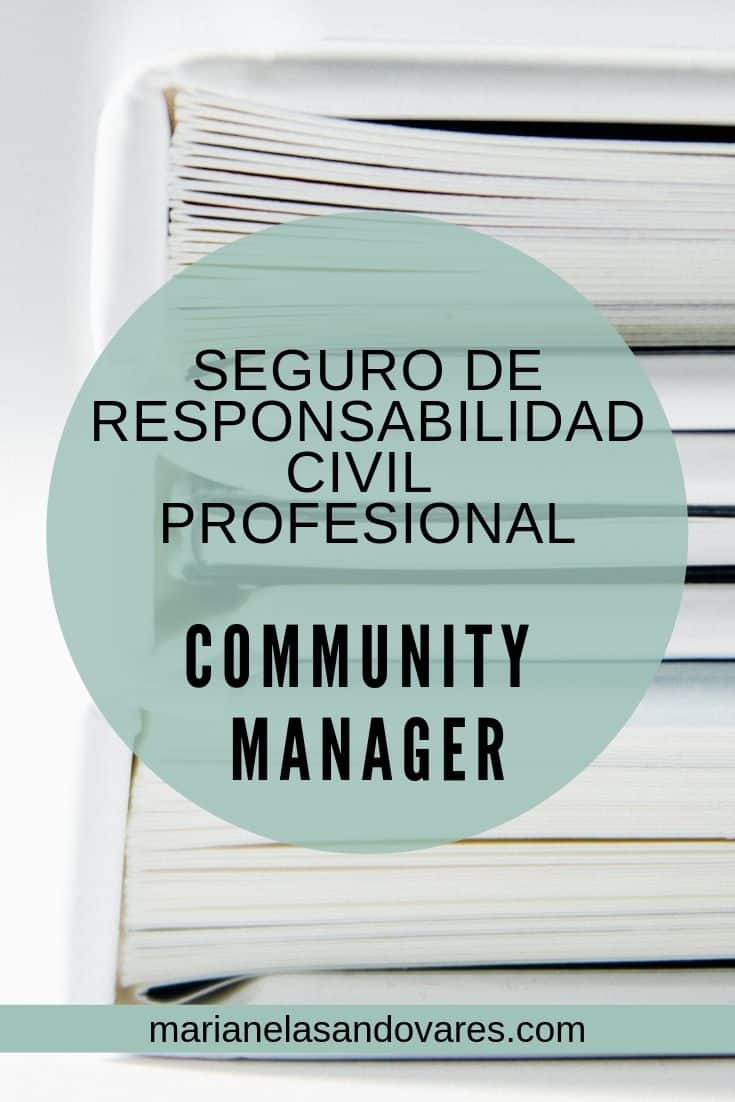 seguro de responsabilidad profesional de community manager