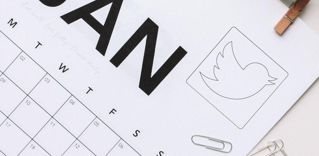 como hacer un calendario para twitter
