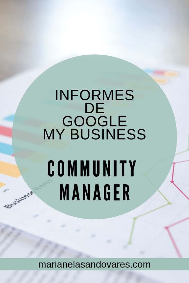 informe google my business community manager